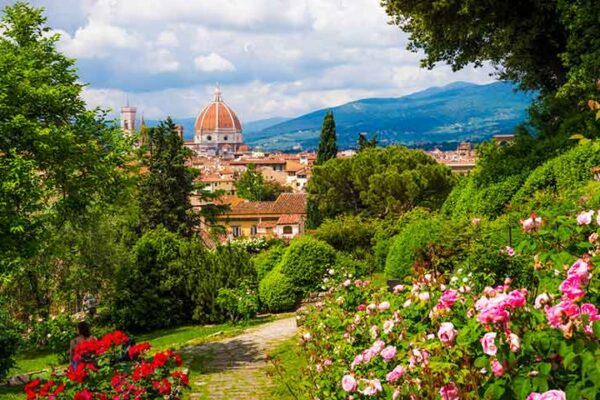 Фото с сада роз во Флоренции